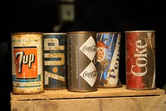 Vintage Coke and 7up (demeeschter) Tags: canada yukon territory highway landscape scenery lake mountains road forest nature teslin town wildlife gallery museum george johnston