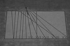 Meridiana molto strana ... A stranger Sundial (Marco_964) Tags: sundial stranger lines bw meridiana stranezza bianconero linee pentax
