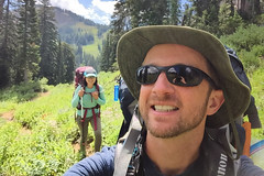 Here She Comes (GlobalGoebel) Tags: alta wyoming unitedstates us selfie grand teton national park backcountry hiking tetoncresttrail iphone iphone6