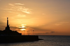 Sunset by the war memorial (karen leah) Tags: sunset sea warmemorial aberystwyth sky