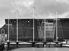 The Circle Bridge in Black and white (knud.hald) Tags: christianshavn copenhagen denmark fuji fujixt10 harbour knudhald street streetphotographycopenhagen27102016 fujinonxf18551284rlmois thecirklebridge blackandwhite niksilverefexpro streetphotography streetlife dk cirkelbroen thecirclebridge europe fujix