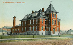 St. Joseph Hospital, circa 1915 - Lewiston, Idaho (Shook Photos) Tags: postcard postcards lewistonidaho lewiston idaho nezpercecounty stjosephhospital hospital healthcare building romancatholic