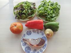 Ensalada de jamón al curry (De rechupete) Tags: ensalada ensaladadecanónigos ensaladadejamón jamónalcurry jamón curry vinagreta