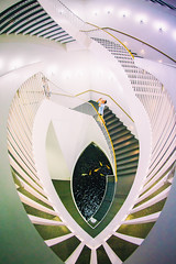 A Girl Named Disillusionment (Thomas Hawk) Tags: america chicago cookcounty illinois josefpaulkleihues kleihues mca museum museumofcontemporaryartchicago usa unitedstates unitedstatesofamerica architecture artmuseum staircase stairs contemporary art fav10 fav25 fav50 fav100