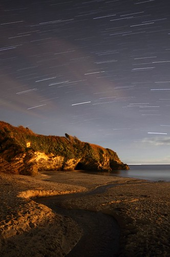 Par beach star trails