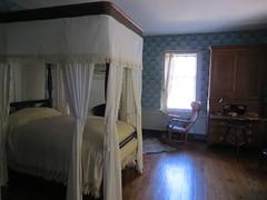 Lace canopy bed (Joel Abroad) Tags: oldsalem northcarolina johnvogler silversmith watchmaker house workshop canopy bed
