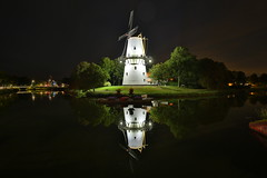 Windmill (Mettwoosch) Tags: middelburg netherland holland windmill zeeland night lights windmhle nacht lichter water reflections wasser spiegelungen longexposure langzeitbelichtung sky himmel travel outdoor vacation urlaub holiday trip canon eos 5dm3 ef lens europe europa skyline city