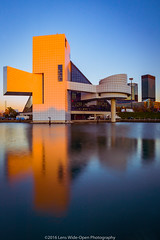 The Rock and Roll Hall of Fame (jomak14) Tags: canoneos1ds cleveland daytimelongexposure fullframe kenkond8filter lakeerie lakefront ohio tokinaaf1935mmf3545 architecture reflection rockandrollhalloffame