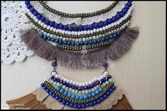"""Maxi-colar """"Winter Blue"""" (colecção de Outono 2016) (GataPreta Artesanato) Tags: colares bijuteria bijuterias bijuteriaartesanal statementnecklace necklace handmade crafts maxicolares maxicolar"""
