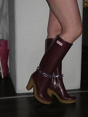 Decoration (jazka74) Tags: wellies rubber boots hunter high heel lonny fun