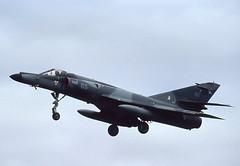 65. French Navy Dassault Super Etendard (Ayronautica) Tags: 65 aeronavale dassaultsuperetendard fairford egva airshow july 1991 aviation military scanned riat internationalairtattoo
