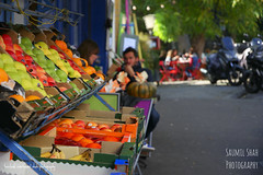 Montmartre Colours (Saumil U. Shah) Tags: paris france therealsaumil saumilshah saumil shah spectrallines spectral lines streetphotography street photography montmartre fruit shop colour colours color colors