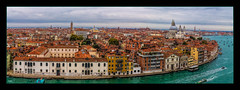 The Waterfront Venice (Kevin, from Manchester) Tags: panorama panoramic venice italy canon1855mm citycentre canal sea sky architecture building clouds kevinwalker hdr adriatic boats