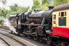 Coupling (Graham Dash) Tags: northyorkshire northyorkshiremoorsrailway pickering yorkshire railways steamlocomotives 45428 erictreacy