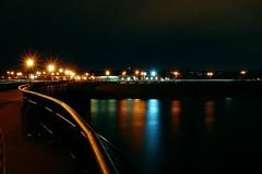 01 (Tatyana2016) Tags: night water reflection lights pier ocean beach boardwalk nikon