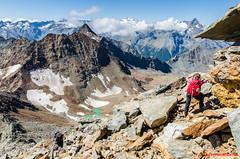 """""""La montagna e l'uomo. Non dominerai mai la montagna, ma durante la scalata imparerai a dominare te stesso. (cit. J. Whittaker)."""" (Matteo Negri) Tags: matteonegri valledaosta arbolle chamolè emilius pila trecappuccini"""