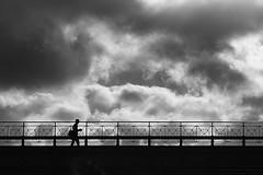 Before the storm (Birdhouse camper) Tags: copenhagen denmark fujifilm fuji fujifilmx10 mood sky silhouette street bridge blackandwhite blackwhite