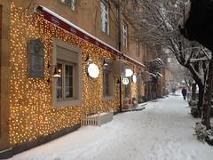 Snowy Yerevan (Alexanyan) Tags: cascade yerevan armenia snow winter street capital city cafe bar