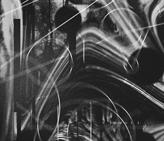 Black and white abstract typography (igorRand) Tags: black white typography graphic dark destroy abstract design build text photo line lines sky blur effect edit glitch melt draw photoshop artist art light flash helvetica error non darknes number composition break