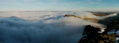 Cloud inversion and brockenspectre seen from the summit of Pen y Fan, Brecon Beacons (Mumbles Head) Tags: wales mountains breconbeacons penyfan snow winter cloudinversion