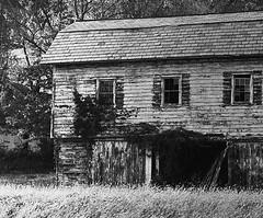 This Old House (kcoretep) Tags: minoltamaxxum9xi 50mmf17 f17 50mm tmax4001600 tmax tmax400 pushprocess oldhouse blackandwhite oldbarn