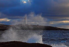 Lively Coast (photo fiddler) Tags: lighthouse peggyscove coastal novascotia december 2016 wave breaker