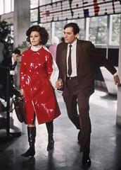 Sophia Loren in vinyl rain coat (Plastic Fashion!) Tags: sophia loren red pvc vinyl plastic rain coat raincoat mac jacket clothing fashion shiny sexy 1960s celebrities women