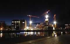 Erweiterung Experimenta (Renate Karle) Tags: bau experimenta lichtbilder abend nachtarbeit gebude