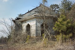 (SouthernHippie) Tags: alabama abandoned al americana architecture american vacant william christenberry photographer photography icon inspiration south southern sky church door overgrown sad death memorial memories serene decay