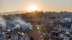 Sunset at Pashupatinath Temple (Kompakin Borwornpakramil) Tags: kathmandu centraldevelopmentregion nepal np pashupatinathtemple canon 1dx markii availablelight ef2470mmf28liiusm sunset