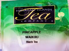 Pineapple Waikiki Black Tea (Victor Wong (sfe-co2)) Tags: pineapple waikiki black tea hawaiian islands company product text pack packet package sachet hawaii usa tropical