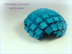 Waterbomb Tessellation by Eric Gjerde (Thomas Krapf Origami) Tags: water paper origami eric bomb papier gjerde tessellation tesselation paperfolding ericgjerde papierfalten waterbombtessellation