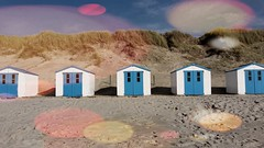 Renting a blue beach hut at Texel (iBSSR who loves comments on his images) Tags: blue houses light colour beach netherlands hut texel stardust renting