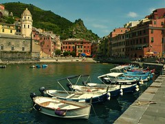 Cinque Terre (natalieradbill) Tags: ocean city sea italy reflection water architecture town five cities terre natalie cinque boast radbill natalieradbill