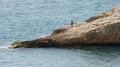 The Man And The Sea (Erich Hochstger) Tags: man nature water rock naked see meer wasser gull natur nackt naturist mann fkk felsen mve