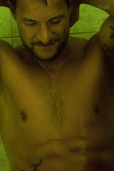 Jef in the Bathroom (tim_asato) Tags: shirtless man male men verde green pecs beard bathroom model muscle trails handsome hunk pit modelo trunk bathtub guapo abs baño hombre barba bicep nip bañera masculino heary timasato jeffagnard