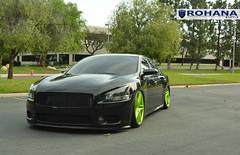 Nissan Maxima - RC8 Lime Green (1) (Rohana Wheels) Tags: nissan wheels rims concave maxima nismo rohana nissanmaxima rc8 4dsc rcseries rohanawheels nissanpower