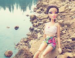 Jenny Junn: BFF3 Runner Up (Bratzjaderox) Tags: lake nature water fashion river rocks doll dolls fierce modeling jenny barbie mga diva mattel cultural realness bratz appropriation sickening myscene mgae junn glampt