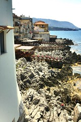 Seaside restaurant..........- Cefalú(Sicily) (giobertaskin) Tags: sedie ristorante sicilia vento pesce scogli tavoli salsedine cefalú allaperto emozione sulmare