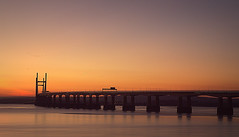 Dusk on the Second Severn Crossing (Welsh Harlequin) Tags: 15challengeswinner