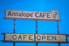 We couldn't believe our luck at finding an open cafe on this stretch of road...
