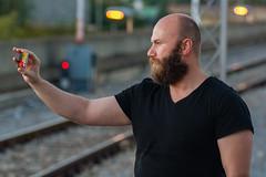 Vladodlak 06 (Zlatko Parmakovski) Tags: city portrait people urban beard lights bokeh railway trail macedonia m42 shooting manualfocus f28 135mm tair skopje 11a phoneography македонија скопје tair11a135mmf28 tair11a d5200