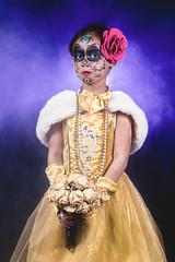 Dia de los Muertos (Friedom2B) Tags: halloween makeup diadelosmuertos dayofdead bookoflife halloweenmakeup princessbellecostume fogmachineportrait