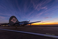 Sunrise And Venus' Eye On The Curtiss SB2C Helldiver (rebeccalatsonphotography) Tags: sky clouds sunrise canon airplane outdoors texas outdoor tx aviation wwii houston airshow warbird curtiss helldiver wingsoverhouston avgeek sb2c 5dsr
