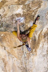 Resting (Vertical Planar - planars.wordpress.com) Tags: girl athens climbing limestone tufa attica sportclimbing hymettos ymittos koropi     vrachokipos   athensclimbingguidebook