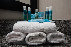 Single Servering Night (Geoff Blondahl) Tags: 500 conditioner hotel shampoo towels project365 nikon d810