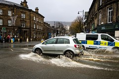 Parting of the waves (Globalimagery) Tags: flood yorkshire ilkley