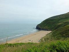 Penbryn Beach (twiga_swala) Tags: ocean uk sea beach nature wales landscape bay scenery natural unitedkingdom britain path coastal british welsh ceredigion cardigan unspoiled penbryn unspolit