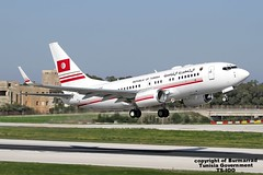 TS-IOO LMML 12-11-2015 Tunisia - Government Boeing 737-7H3(BBJ) CN 29149 (Burmarrad (Mark) Camenzuli Thank you for the 17.2) Tags: cn tunisia aircraft airline government boeing registration 29149 lmml tsioo 12112015 7377h3bbj