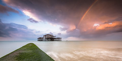 Rainbow Pier - Shortlisted in the Outdoor Photography of the Year 2015 (Stu Meech) Tags: sea sky west sunrise concrete pier rainbow nikon brighton photographer stu outdoor jetty tide year hard lee filters grad the meech 2015 d610 shortlist shortlisted of 06nd 09nd opoty